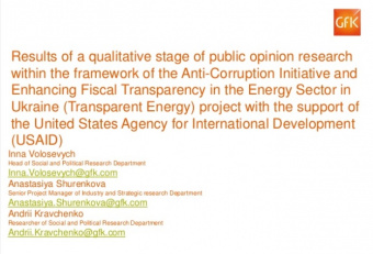 Results of the Quantitative Public Opinion Poll of the USAID Transparent Energy Project