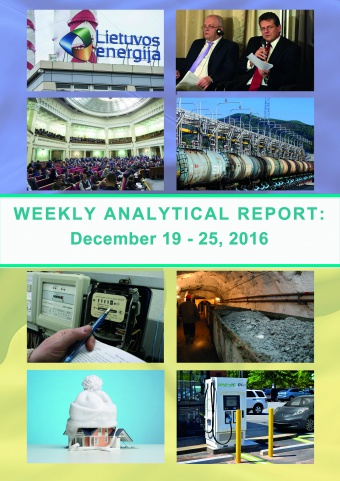 Weekly analytical report: December 19 – 25, 2016