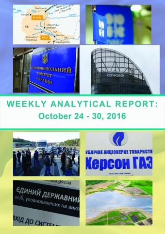 Weekly analytical report: October 24 -30, 2016