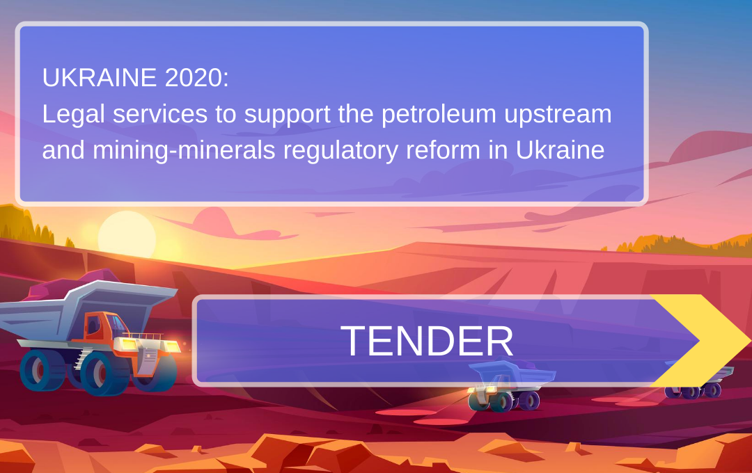 DiXi Group calls for legal services to support the petroleum upstream and mining-minerals regulatory reform in Ukraine