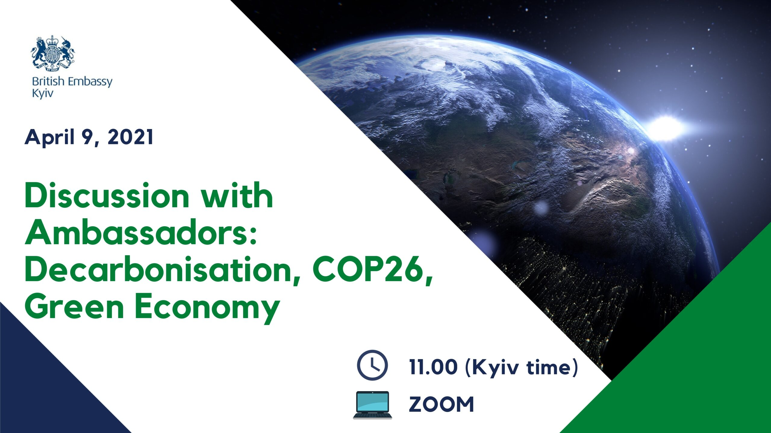 Discussion With Ambassadors: Decarbonization, COP26, Green Economy